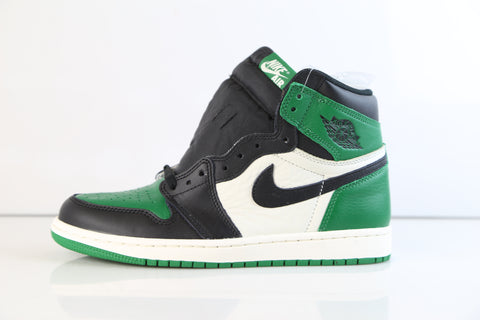 Nike Air Jordan Retro 1 High OG Pine Green Sail Black 555088-302 Adult and GS
