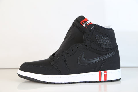 Nike Air Jordan Retro 1 BCFC PSG Paris Saint-Germain Intl Black Red AR3254-001