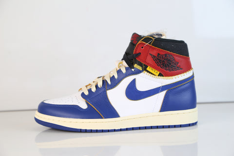 Nike Air Jordan Retro 1 HI OG NRG UN Union LA White Storm Blue Red BV1300-146