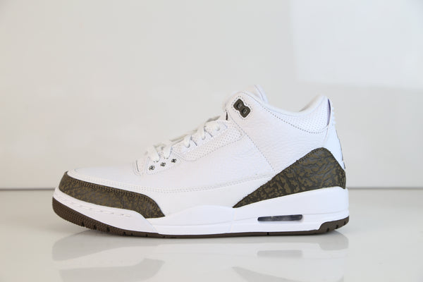 Nike Air Jordan Retro 3 White Chrome Dark Mocha 2018 136064-122