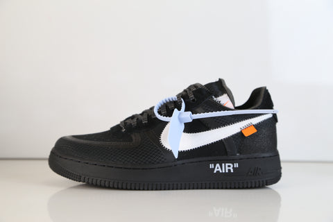 Nike Air Force 1 Low Off-White Virgil Abloh Black White A04606-001