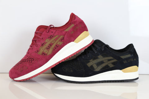 Asics Gel-Lyte III LC EVO Laser Cut Burgundy H5E3L 2525 or Black 9090