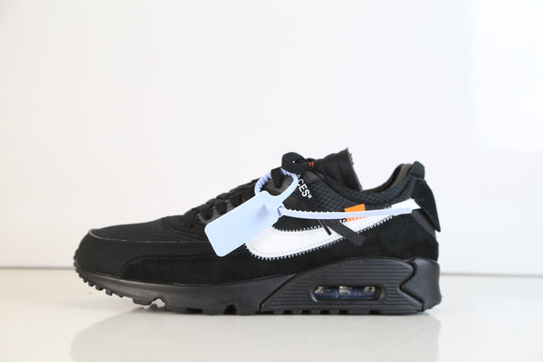Nike Air Max 90 Off-White Virgil Abloh Black Cone White AA7293-001