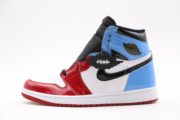Nike Air Jordan Retro 1 High Og Fearless Unc To Chicago Patent