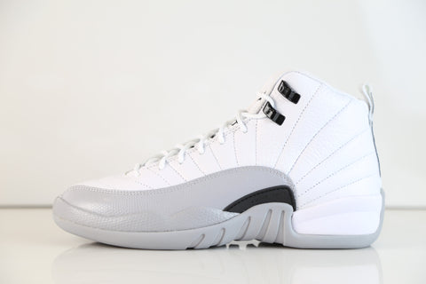 Nike Air Jordan Retro 12 TD PS and GG GS White Wolf Grey Black 153265-007