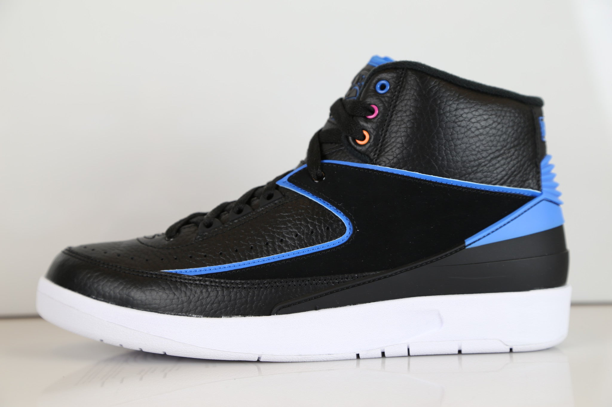e97e68facc82 Nike Air Jordan Retro 2 Radio Raheem Black Pink Blue 834274-014 Adult