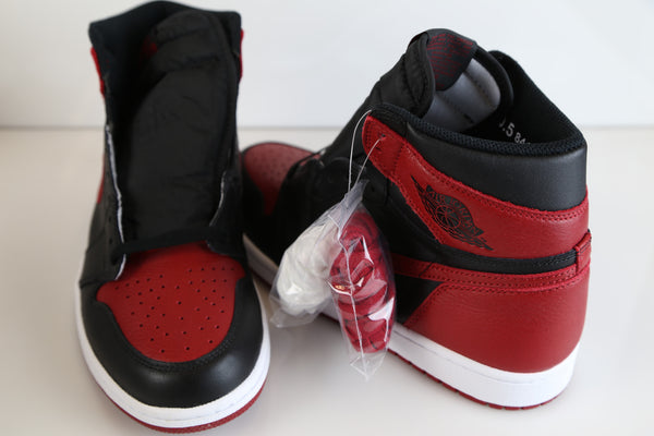 1f3dc460562 ... Nike Air Jordan Retro 1 Bred Banned 2016 555088-001 Adult and GS Kids  sizes ...