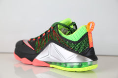 Nike Lebron XII Low Remix Black Silver Bolt Hot Lava 724557-003