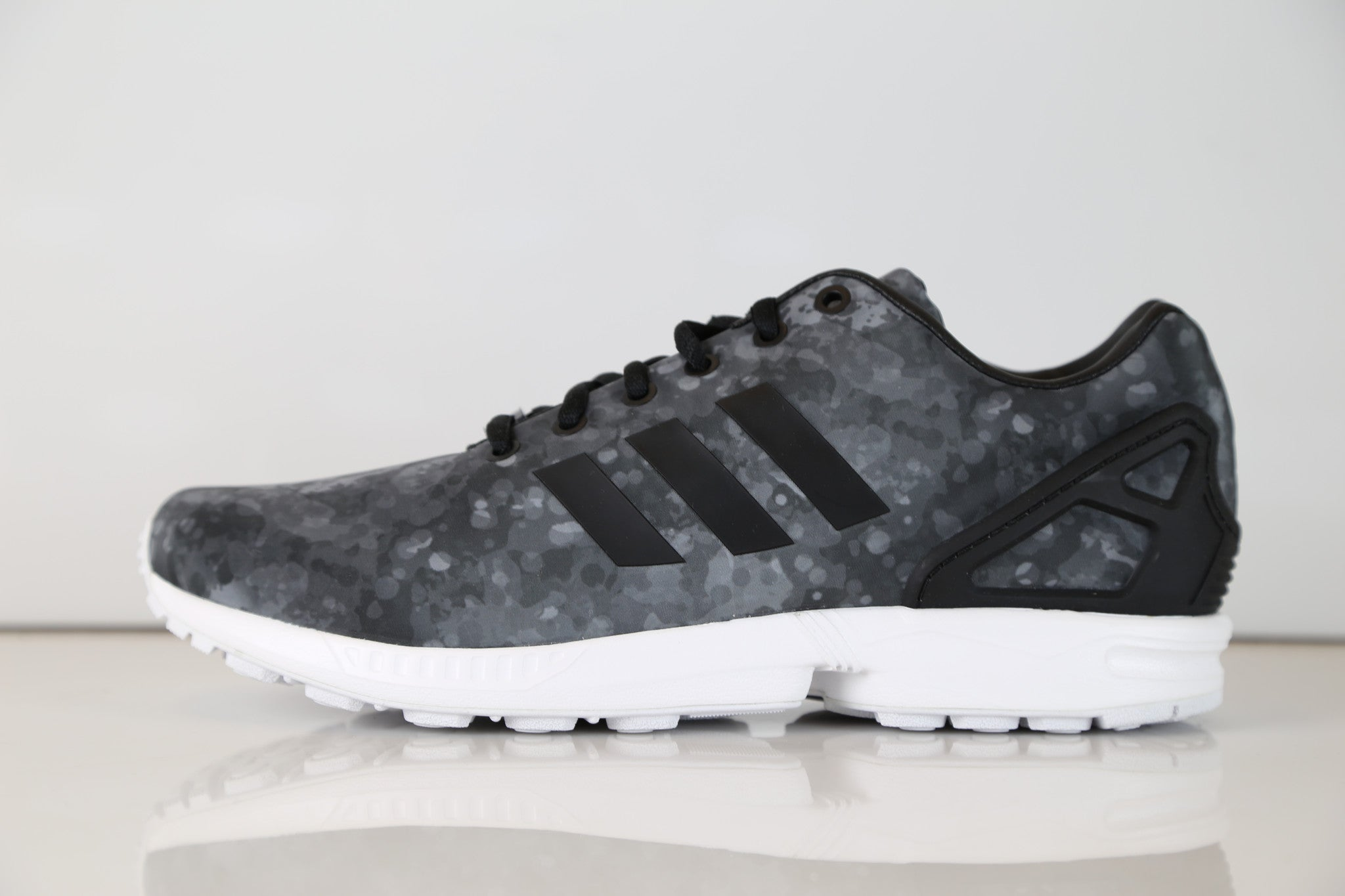 522db2771 Adidas Consortium X White Mountaineering ZX Flux WT Camo Black Grey ...