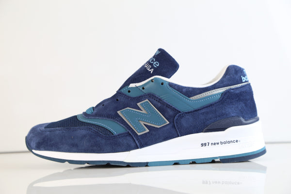 New Balance Made in USA 997 Dark Blue Aqua Teal M997CEF (NO codes)