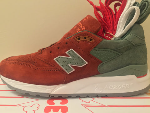 New Balance X Concepts 998 Rivalry Pack Boston Red Sox Red Dirt Green Made USA