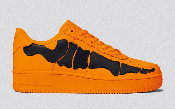 Nike Air Force 1 Skeleton Brilliant Orange Black CU8067-800 - BONUS