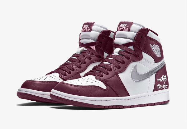 Nike Air Jordan Retro 1 High OG Bordeaux White Metallic Silver 555088-611 - PRE ORDER