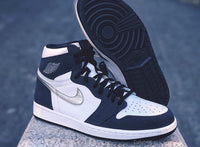 Nike Air Jordan Retro 1 High OG CO Jp Midnight Navy Silver DC1788-100 - BONUS