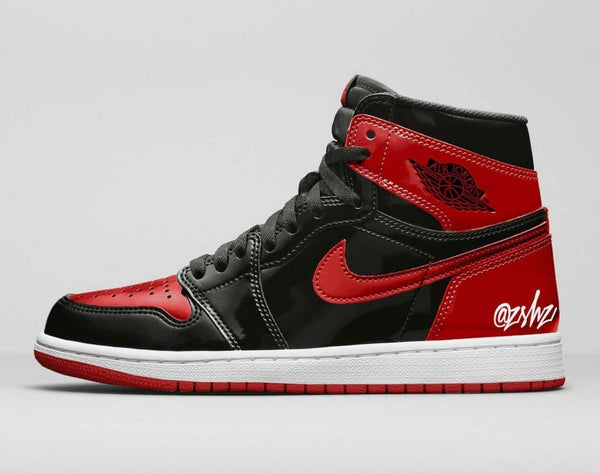 Nike Air Jordan Retro 1 High OG Patent Bred Black Varsity Red 555088-063 - PRE ORDER
