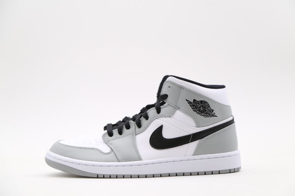 Nike Air Jordan Retro 1 Mid Light Smoke Grey White Black 554724-092