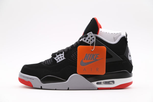 Nike Air Jordan Retro 4 OG 30th Bred Black Fire Red Cement Grey 308497-060 TD-Adult