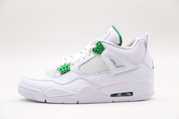 Nike Air Jordan Retro 4 White Metallic Pine Green Silver CT8527-113