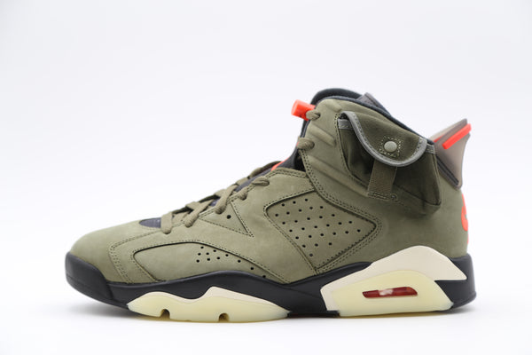 Nike Air Jordan Retro 6 Travis Scott Olive Green CN1084-200 TD-Adult