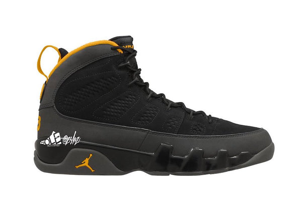 Nike Air Jordan Retro 9 Black Charcoal University Gold CT8019-070 - PRE ORDER