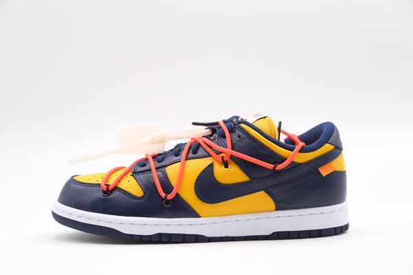Nike OW Off-White Dunk Low University Gold Midnight Navy CT0856-700