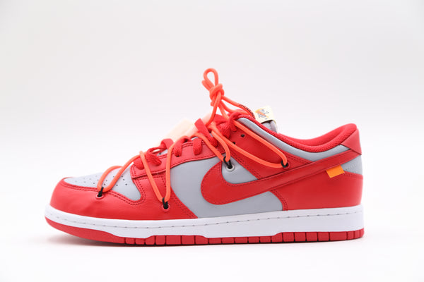 Nike OW Off-White Dunk Low University Red White CT0856-600