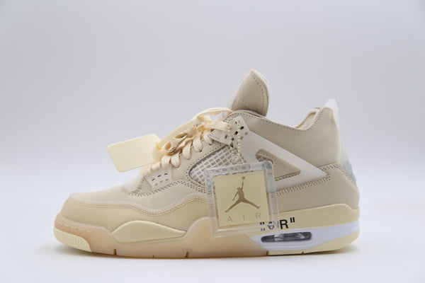 Nike Womens Air Jordan Retro 4 SP Off-White Sail Muslin CV9388-100