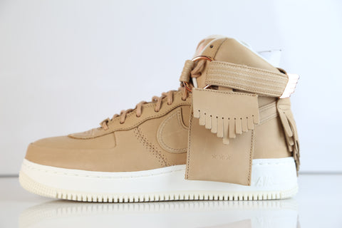 Nike AF1 High Sports Luxury AS QS 5 Decades Lux Vachetta Tan 919473-200 (NO Codes)