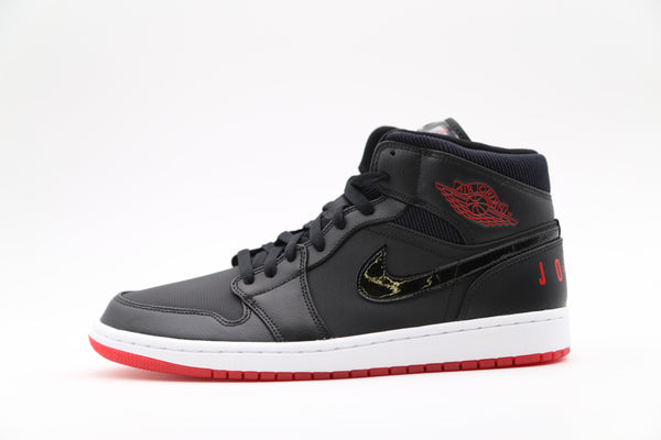 Nike Air Jordan 1 Mid Black University Red BQ6578-001