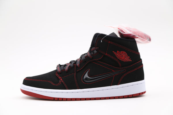 Nike Air Jordan 1 Mid Fearless Come Fly With Me Black Gym Red CK5665-062
