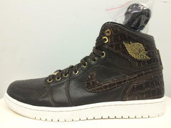 Nike Air Jordan 1 Pinnacle Baroque Brown Croc Metallic Gold 705075-205
