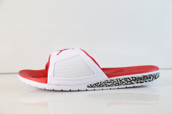 Nike Air Jordan Hydro III Retro Slide White Fire Red 854556-116