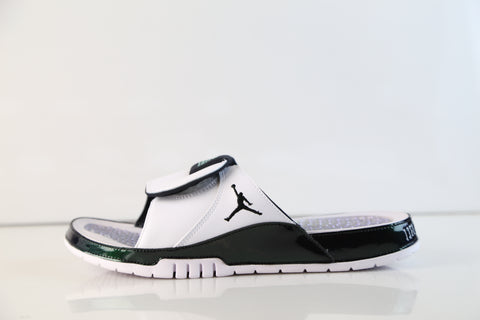 Nike Air Jordan Hydro XI Retro Slide Easter Emerald Rise White Black AA1336-117