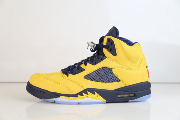 Nike Air Jordan Retro 5 SE Inspire Michigan Amarillo College Navy CQ9541-704