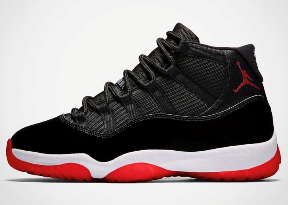 c6f6e0000fb Nike Air Jordan Retro 11 Bred Black Varsity Red 378037-061 2019 PRE ...