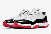 Nike Air Jordan Retro 11 Low White University Red Black True Red AV2187-160 - PRE ORDER