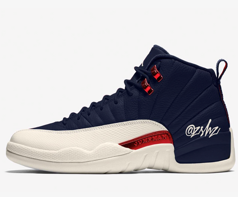 Nike Air Jordan Retro 12 College Navy Sail University Red 130690-445 Adult and GS PRE ORDER