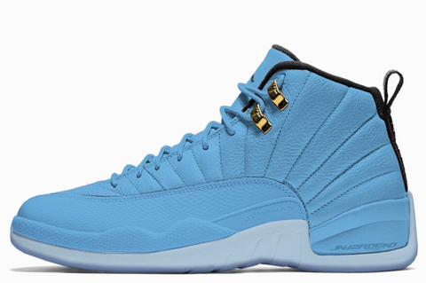 Nike Air Jordan Retro 12 Pantone University Blue Metallic Gold Black 2018 130690-430 Adult and GS PRE ORDER