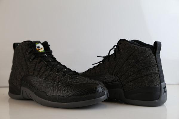 Nike Air Jordan Retro 12 Wool Oregon Ducks Custom PE Official Tinker Signed size 14 (NO Codes)