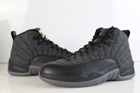 Nike Air Jordan Retro 12 Wool Oregon Ducks Custom PE Official Tinker Signed size 9.5 (NO Codes)