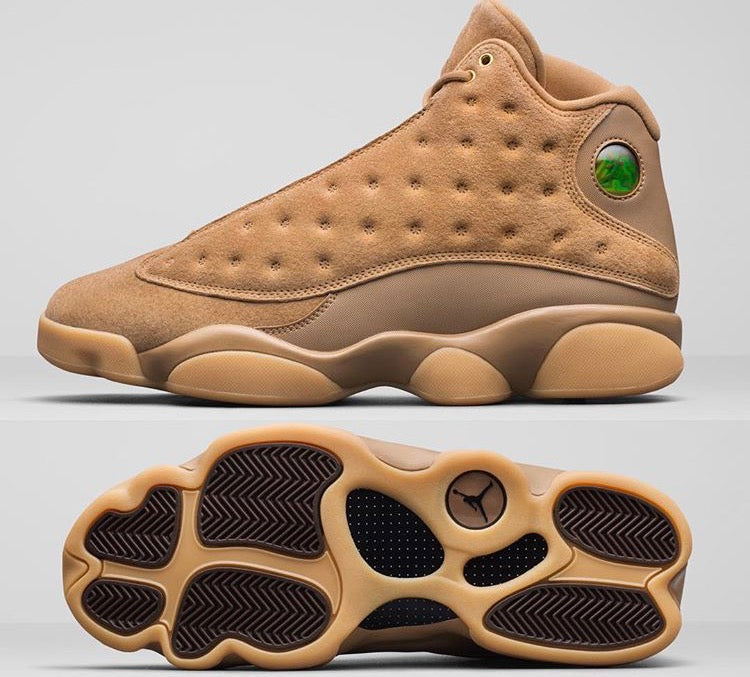 cd37c6879cfe1a ... Nike Air Jordan Retro 13 Wheat Elemental Gold Baroque Brown Gum  414571-705 Adult and ...