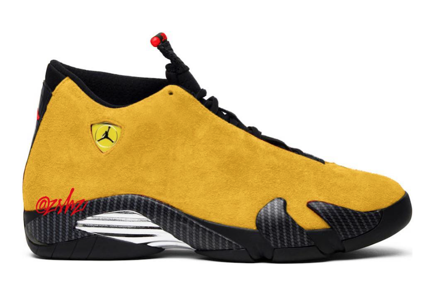 fea184ac5e6914 ... inexpensive coupon code for nike air jordan retro 14 se reverse ferrari  university gold suede red