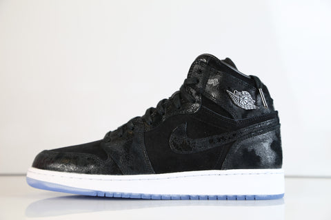 Nike Air Jordan Retro 1 Hi Black Prem HC Heiress GG GS 832596-001 (NO Codes)