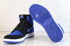Nike Air Jordan Retro 1 Hi Flyknit Black Game Royal 919704-006 (NO Codes)
