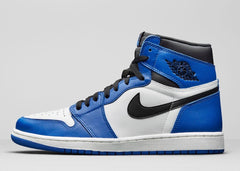 Nike Air Jordan Retro 1 High OG Game Royal Black White 555088-403 Adult and GS
