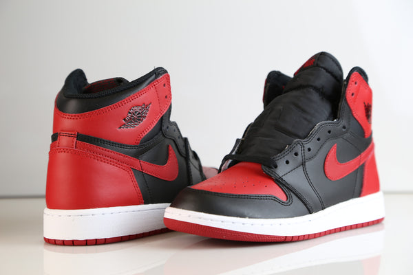 nike air jordan retro 1 bred banned 2016 555088 001 adult and gs kids sizes