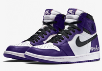 Nike Air Jordan Retro 1 High OG Court Purple 2.0 White Black 555088-500 - BONUS