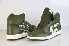 Nike Air Jordan Retro 1 High OG Olive Canvas Sail 555088-300