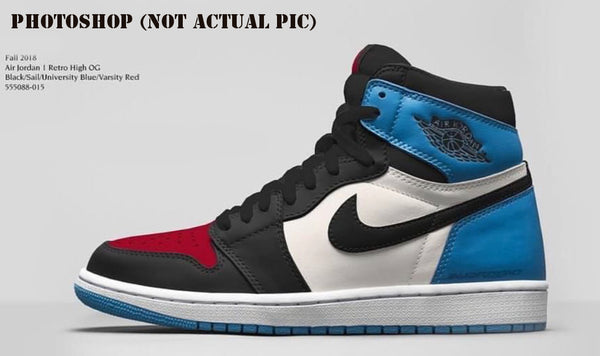 Nike Air Jordan Retro 1 High OG Reverse Black Sail University Blue Varsity Red 2018 PRE ORDER