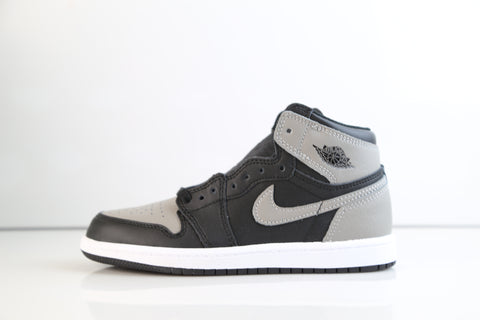 Nike Air Jordan Retro 1 High OG Shadow Medium Grey BP PS AQ2664-013